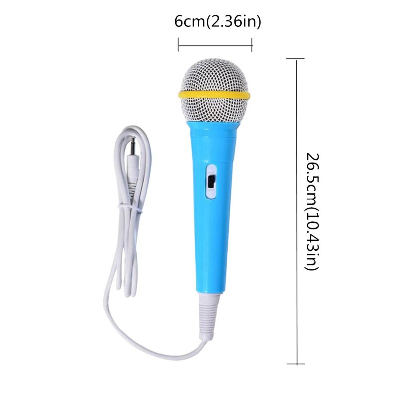 Children Wired Microphone Toy Musical Instrument Singing Karaoke For Learning Machine Computer Car Hi-fi Equipment  Y4UD