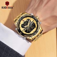 цены KADEMAN Sports Mens Watches Top Brand Luxury Military LED Quartz Watch Men Waterproof S Shock Male Clock Relogio Masculino 2020