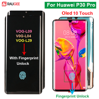 Raugee Original Display For Huawei P30 Pro Touch Screen Oled 10 Touch Screen Replacement For Huawei P30 Pro Vog l29 Screen