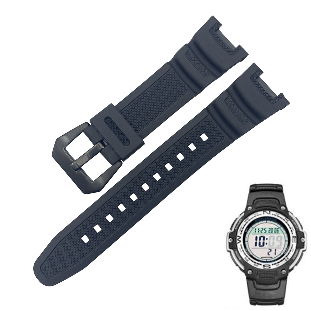 New Black Silicone Rubber waterproof Strap for Casio sgw-100 watchbands Smart watches accessories Strap Bracelet DIY Replace