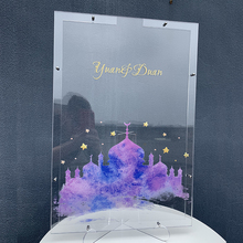 Customize Guestbook Transparent Frame Personalised Wedding Guest Book Alternative Five-Pointed Star Drop Box Top Signature