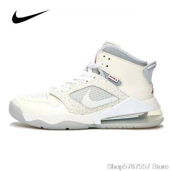 цена на Original Nike Air Jordan Mars 270 Jordan Shoes Men Basketball Shoes High-top Mens Jordan Shoes Sneakers Boots Women CT3445-100