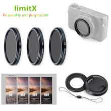 ND2 ND4 ND8 Neutral Density ND Filter & Adapter Ring lens cap keeper for Canon G7X Mark II III Ricoh GR II III Sony ZV 1 ZV1