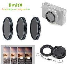 ND2 ND4 ND8 nötr yoğunluk ND filtre ve adaptör halkası lens kapağı kaleci Panasonic LX10 LX15 TZ200 TZ100 TZ220 ZS200 TX2 ZS100