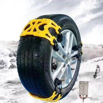 6Pcs/Set TPU Snow Chains Cable tie  Universal Car Suit 165-285mm Tyre Winter Roadway   Tire Chains Snow Climbing   Anti Slip