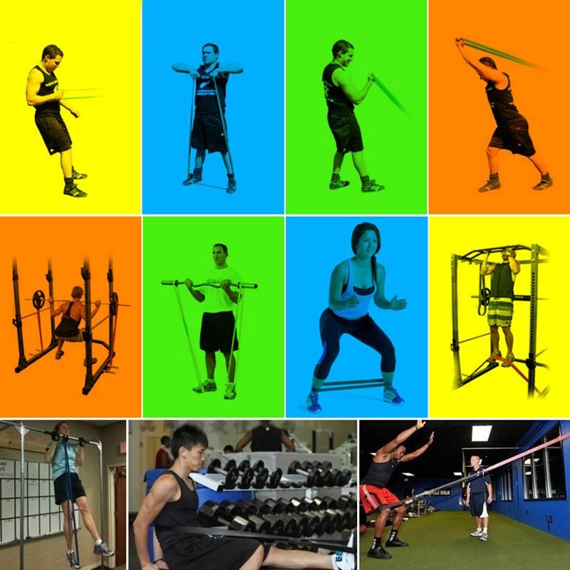 Эластичная Эспандер для упражнений, эластичная лента для фитнеса, пилатеса, домашних тренировок, 208 см-2