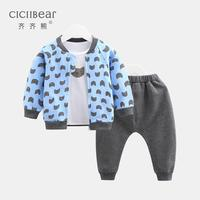 ciciibear baby boy clothing 2020 spring new kid suit children clothes baby out three piece tide