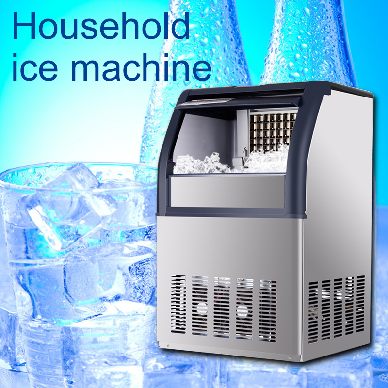 Intelligent Commercial Ice Machine Automatic Tea Shop Bar Ktv Ice Machine Adjustable Square Ice Thickness Ice Machine