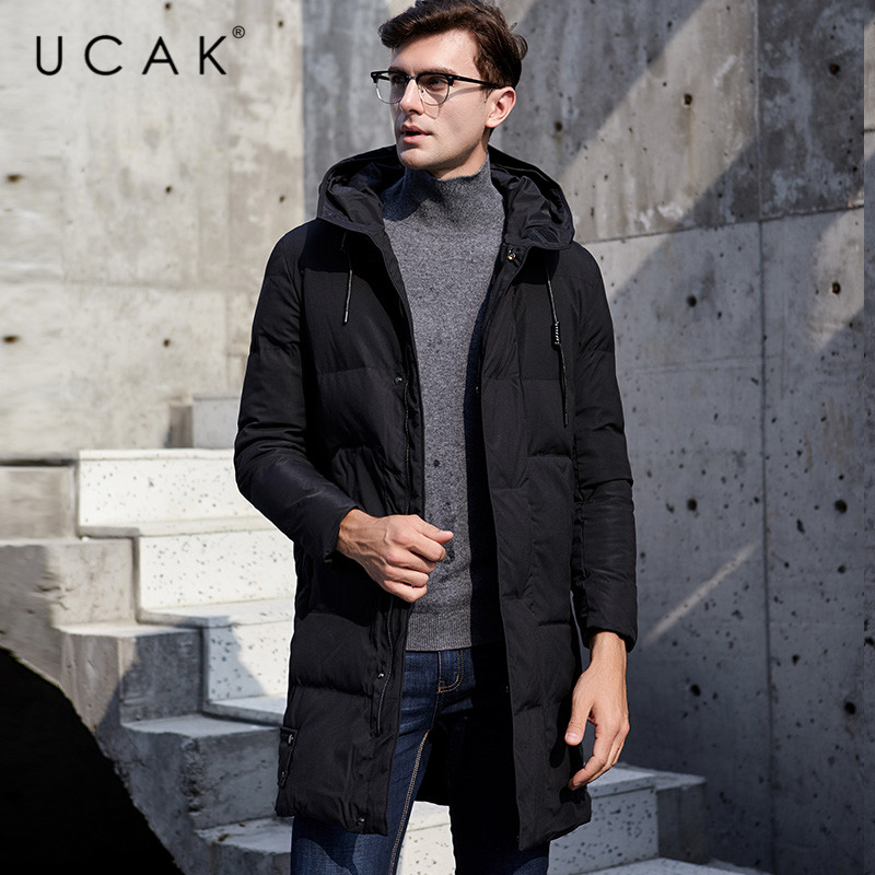 UCAK Brand Long Jackets 2019 Fashion Stylish Winter New Arrival Casual Polyester Thick Warm Streetwear Clothing Coat Male U8022