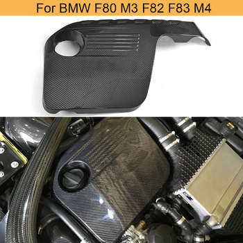 Carbon Fiber Car Engine Cover Bonnet For BMW F80 M3 F82 F83 M4 2014 - 2019 Hood Inside Engine Cover Trim Hood Bonnet Protector image