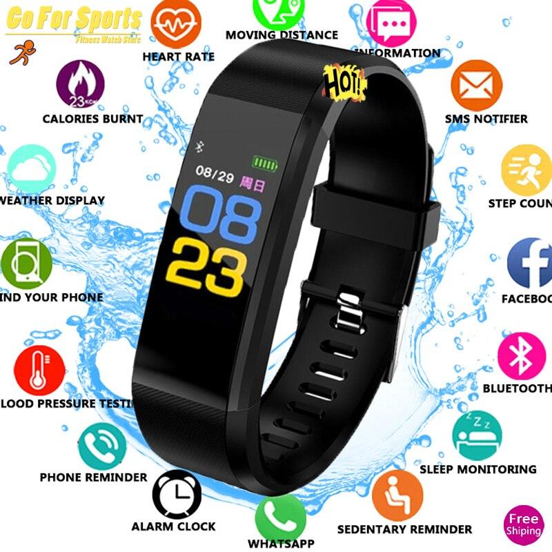 Omg Pulseira Inteligente Saúde Monitor de freqüência cardíaca/Pressão Arterial/Pedômetro Pulseira forMen Mulheres À Prova D' Água Esportes relógio Inteligente