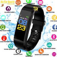 Pulsera Inteligente para la salud, Monitor de ritmo cardíaco, presión arterial, podómetro, pulsera deportiva impermeable para hombres, reloj Inteligente para mujeres