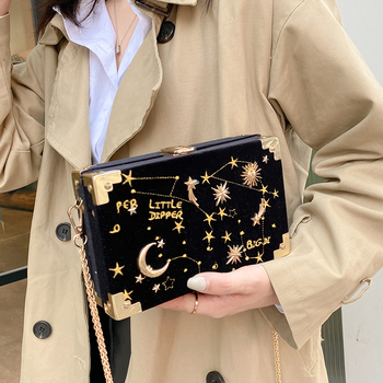 High Quality Women Velour Small Shoulder Bag Fashion Chain Crossbody Bags for Women Designer Ladies Handbags Messenger Bags New image