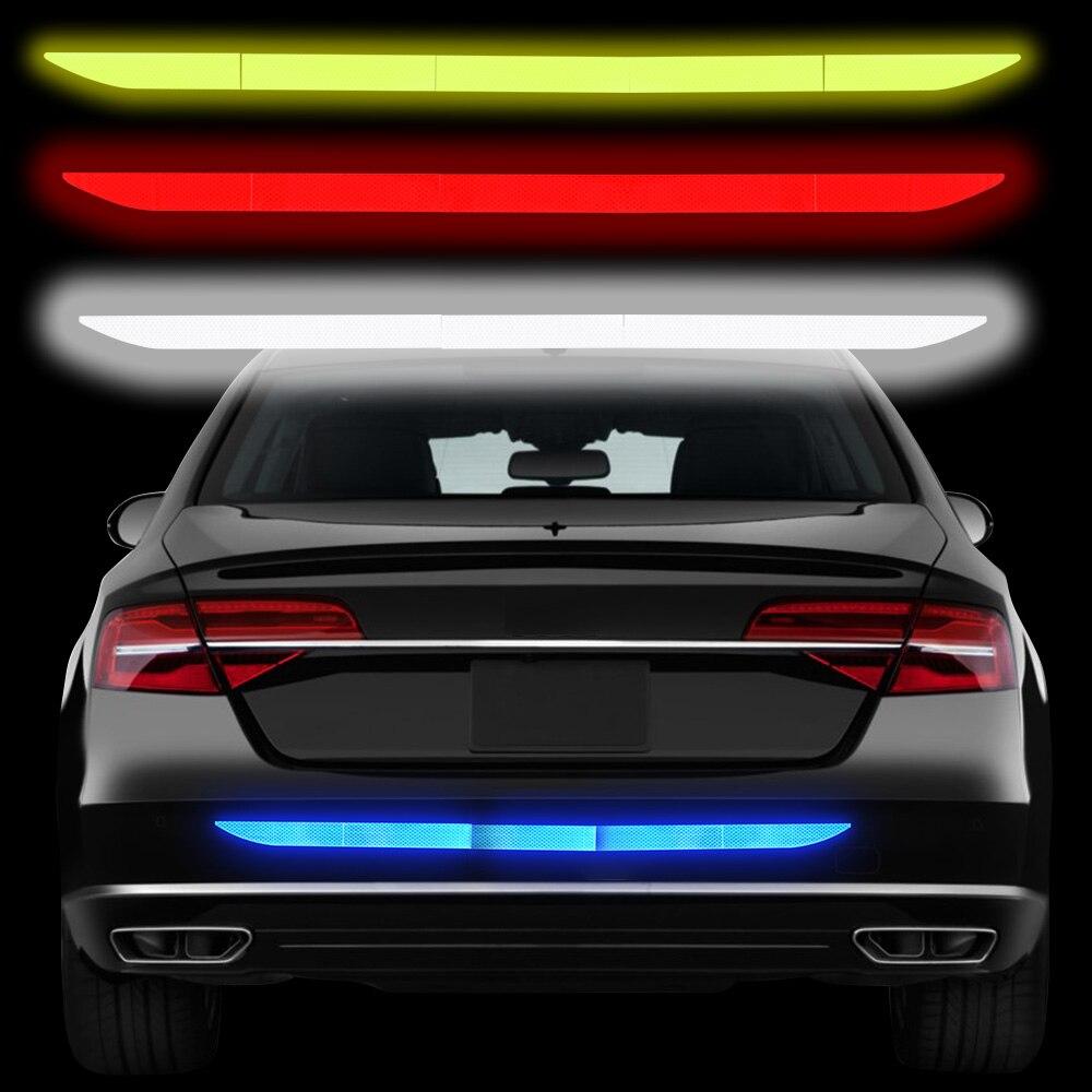 5 шт нано Светоотражающая наклейка для автомобиля Предупреждение ленты, Не оставляющий следов надежный защитный стикер автомобиля предупр...
