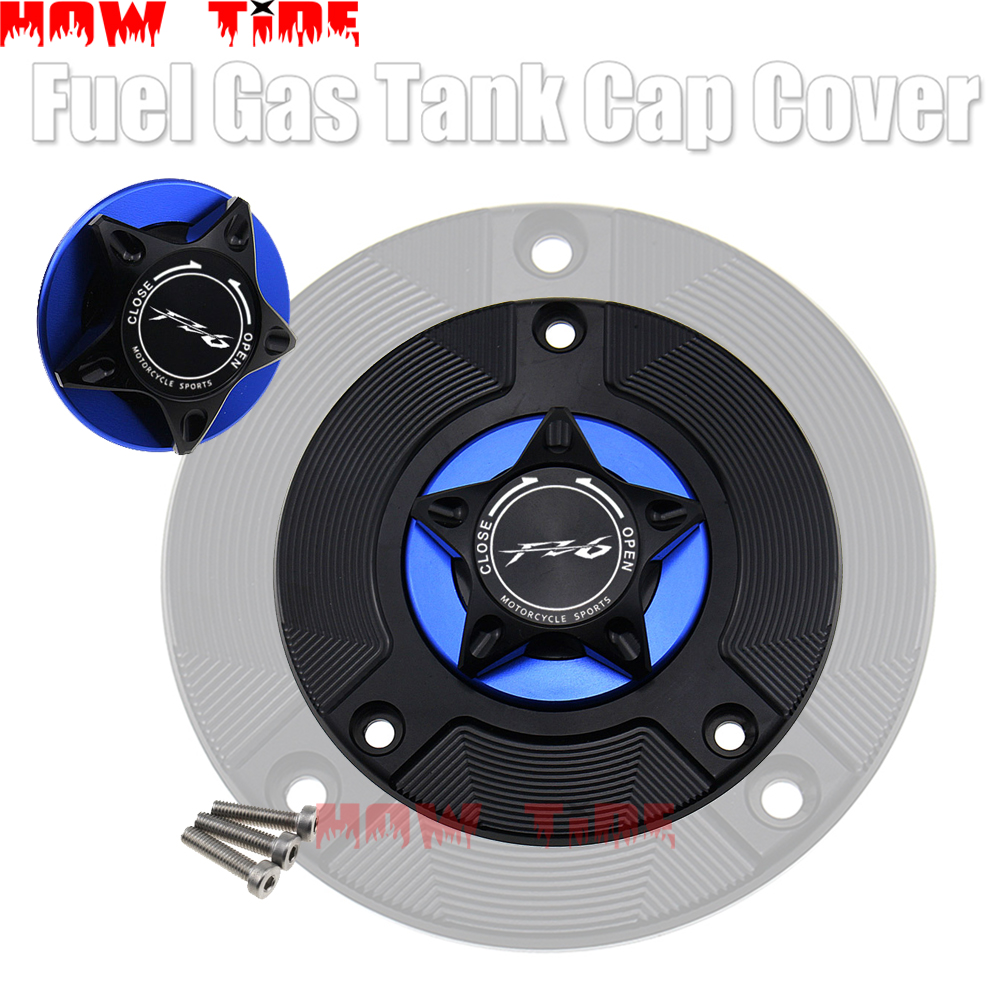 Logo 8 Colors CNC Aluminum Keyless Motorcycle <font><b>Accessories</b></font> Fuel Gas Tank Cap Cover for <font><b>YAMAHA</b></font> FZ6 N/S <font><b>FZ6N</b></font> FZ6S All Years image