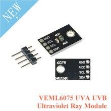 UV Detection Sensor โมดูล VEML6075 UVA UVB รังสีอัลตราไวโอเลตโมดูลเซ็นเซอร์แสง UV Light Intensity Sensor สำหรับ Arduino I2C พอร์ต