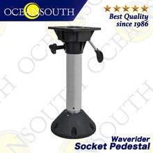 Oceansouth Waverider Socket Pedestal Aluminium Anodised Shaft Swivel Top Adjustable Height For Standard Boat Seats