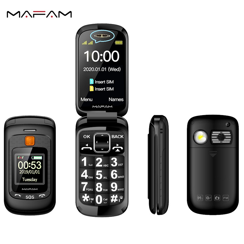Mafam Flip Senior Mobile Phone Dual Display Touch Handwriting 2.4