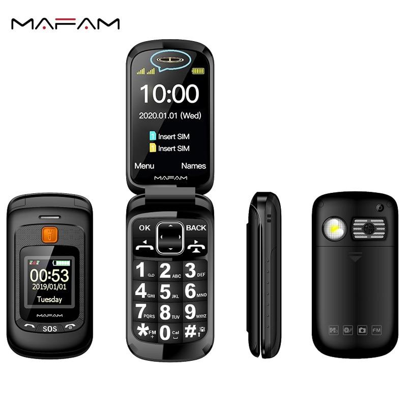 Mafam Flip Senior Mobile Phone Dual Display Touch Handwriting 2.4