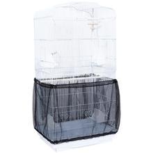 POPETPOP клетка для птиц сетка пылезащитный чехол семена Ловца регулируемая оболочка юбки ловушки, клетка корзина(черный