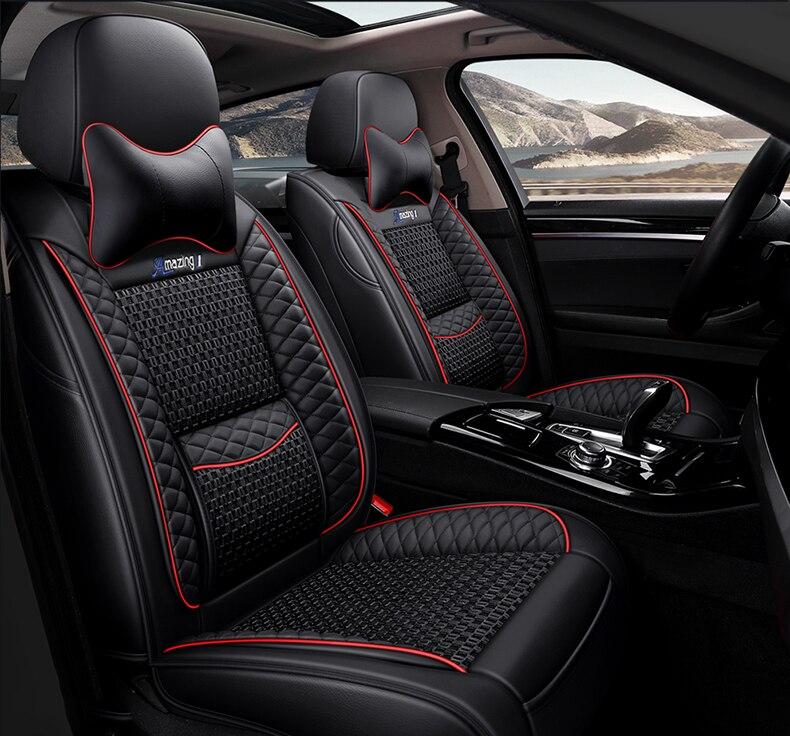 Housse de siège de voiture universelle pour auto mitsubishi pajero 4 2 sport outlander xl asx accessoires lancer 9 10 housses pour sièges de véhicule - 3