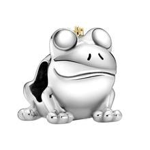 1 шт. новая милая подвеска в виде лягушки, сделай сам, бисер Подходит для к оригиналу Pandora, очаровательный браслет для женщин ювелирные издели...