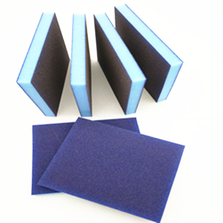 Sponge Abrasive Paper Polishing Import Blue Square Wear-Resistant Thin Double-Sided Elastic Woodworking Sponge Water SNAD Paper