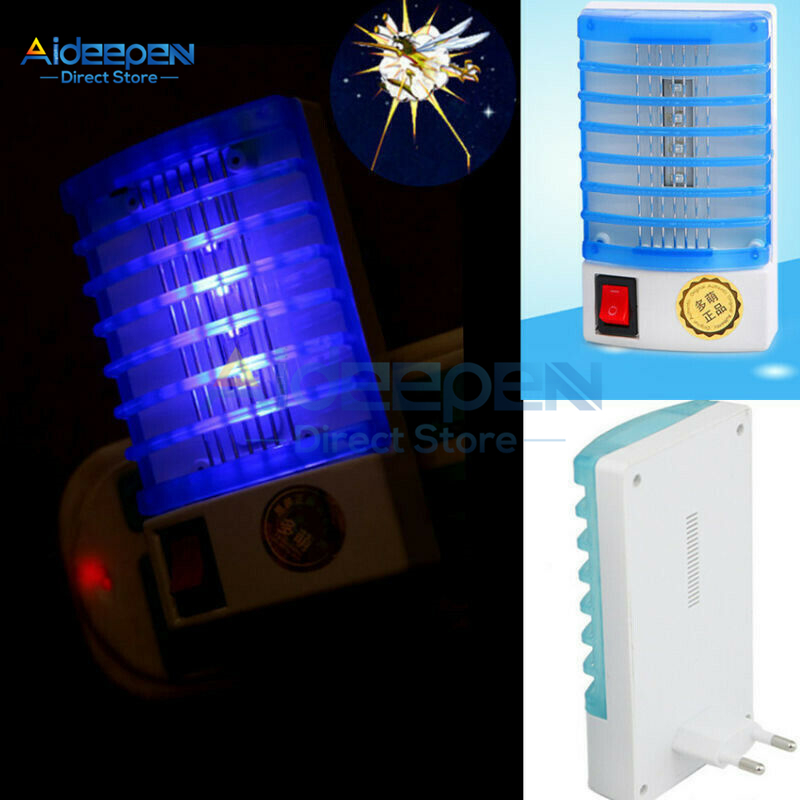 110V Mini Mosquito Lamp LED Electric Mosquito Killer Anti Mosquito Repellent Fly Insect Trap Night Lamp Killer Bug EU US Plug