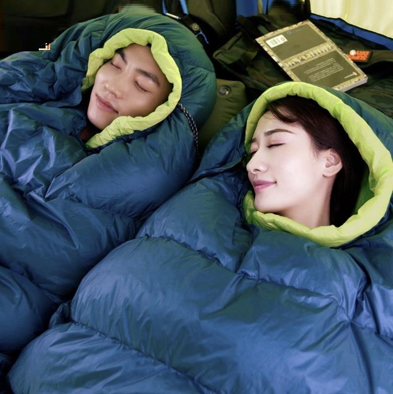Ev ve Bahçe'ten Giyim Örtüleri'de YENI youpin Açık yetişkin Uyku Tulumu Öğle Yemeği molası pamuk uyku tulumu Ultralight aşağı Saf beyaz ördek aşağı Taşıma çantası'da  Grup 1