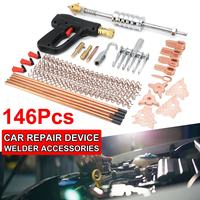 146Pcs Dent Puller Kit Car Body Dent Repair Device Welder Stud Weld Welding & Soldering Supplies Metal Equipment