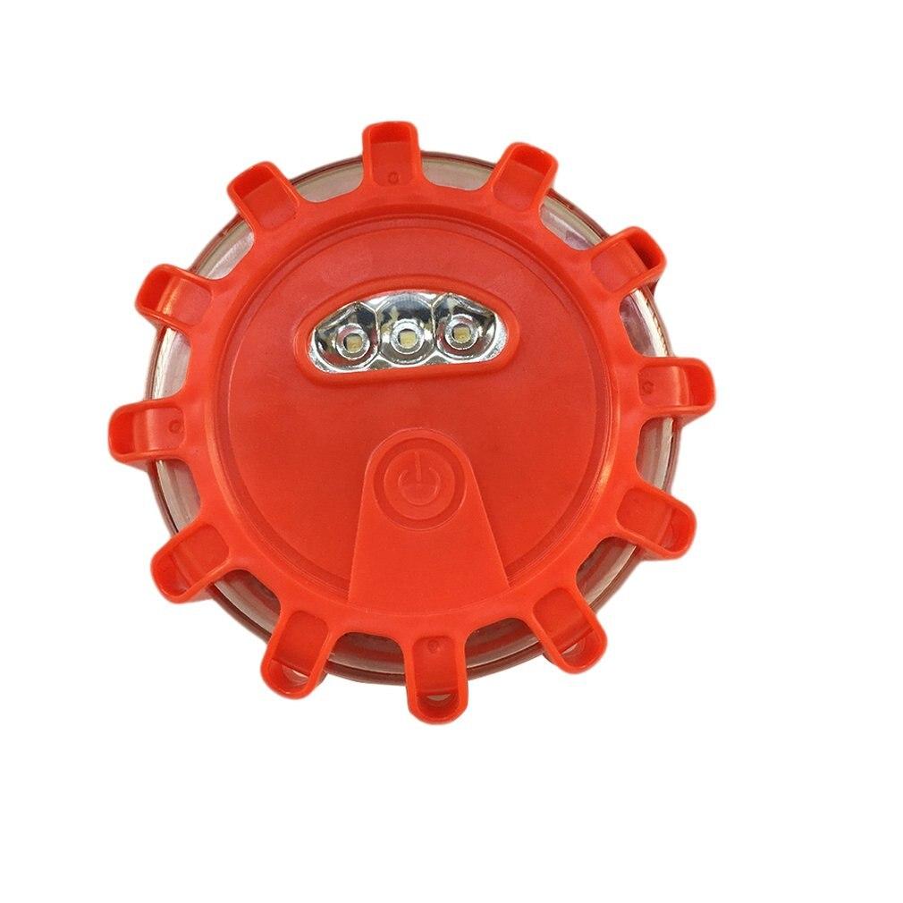 1Pc/Led Multi-Function Safety Warning Light Road Red Flares Flashing Warning Roadside Emergency Safety Light For Car Truck