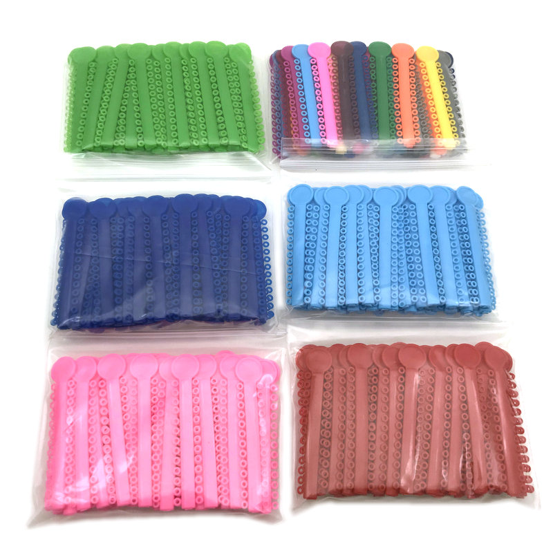 40pcs Dental Orthodontic Ligature Ties Elastic Rubber Bands Tools Elasticity For Teeth Adult Orthodontic Braces Set