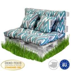 BCASE Kissen Palette Faser Rückenlehne für Paletten, Umfassen Sitz und Zurück, Ideal für Garten, Terrasse, farmyard und Balkon Bar