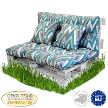 Casahorra Pack Cushion Pallet Fiber + Back Cushion Pallet truck Padded Cushion, include Back Cushion Seat, beautiful magic cushion seat back cushion lumbar back supporter deep pink