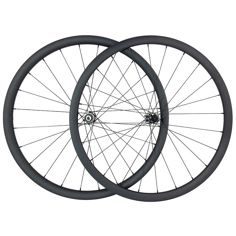 SPEEDSAFE 1380g 700c 30mm asymmetric road disc bike carbon wheels 25mm wide clincher tubeless 350 center
