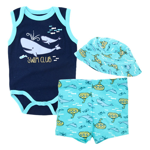 Baby Girl Clothes Summer Set Red Butterfly Printed Bodysuit+Hat+Pants Newborn 0-12 months Clothing