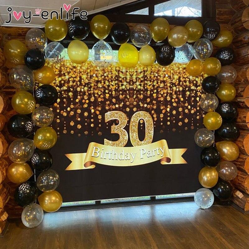 30 40 50 60 anos decorações de festa de aniversário adulto látex número balão confetes 30th 40th 50th aniversário festa globos
