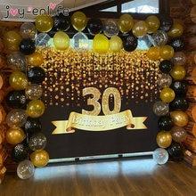 30 40 50 60 anos decorações de festa de aniversário, adulto balão de látex número balões confete balões 30th 40th festa de aniversário globos