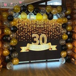 30 40 50 60 лет украшения на день рождения, взрослые латексные конфетти с цифрами для воздушного шара, баллоны 30, 40, 50, 50 лет