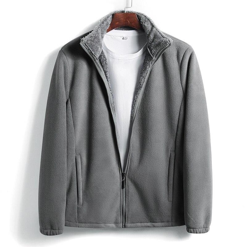 Woodvoice Men's Fleece Jacket Warm Fleece Hoodies Men Brand-clothing Autumn Winter Zipper Sweatshirts Male Quality Clothing 6XL