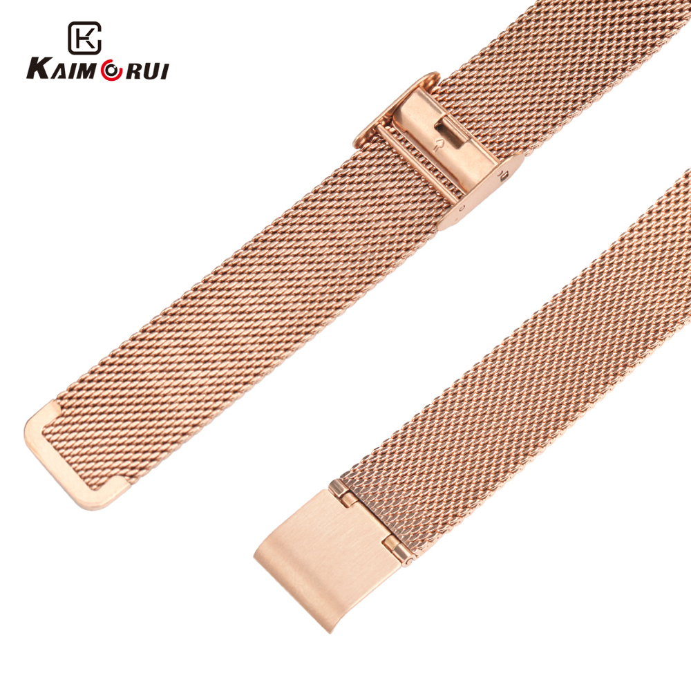 KW10 Smart Watch Strap High Quality Leather Band Stainless Women Watch Band for Smartwatch KW10  Watch  Replacement Band