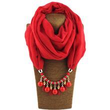 Jzhifiyer inverno mujer pendant ring scarfs jewelry muslim hijab cotton soft plain Charm bead Jewelry