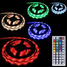 Waterproof 28W 12V 5M 16.4feet 150 x 5050 RGB LED 8 Light Pattern Flexible LED Tape + 44 Keys IR Remote Controller US Plug