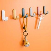 Cintres muraux auto-adhésifs à crochets de serviettes en plastique, ensemble de 4 pièces, organiseur mural pour clés et porte-clés décoration intérieure
