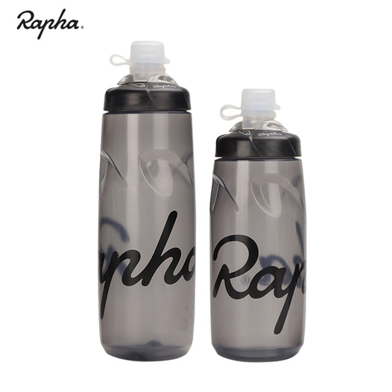 Rapha Sport Water Bottle 620ml 750ml Leak-proof Cycling Ultralight PP Drink Water Bottle Bike Lockable Mouth Water Bottle Gray