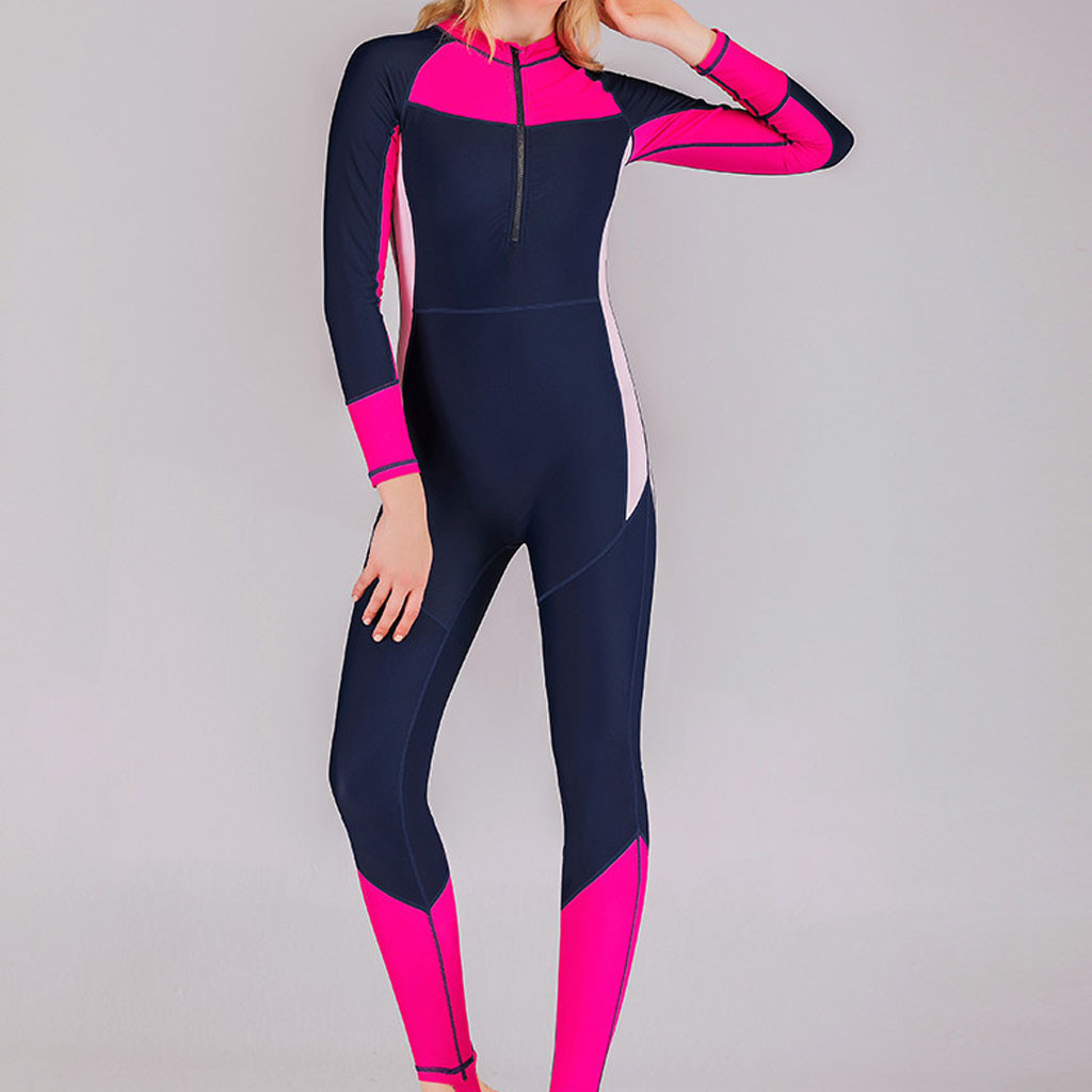 Spearfishing Suit Scuba-Snorkeling Skin Surfing One-Piece 3mm Neoprene Women Keep-Warm title=