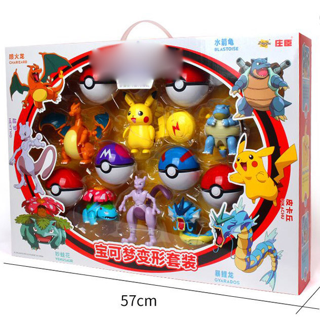 Action Morphing Pokeballs Transformation Toys For Children 6 Pocket Monsters Per Pack Great Birthday Christmas Gift Pikachu Toys