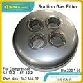 Saug Gas filte ist entwickelt  um verhindern unreinheiten geben zylinder von recipricating kompressor  kompatibel von 4J13. 2 zu 6F50. 2-in Gefrierschrank-Teile aus Haushaltsgeräte bei
