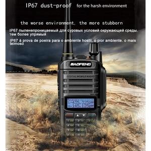 Image 2 - baofeng uv 9r uv 9r plus для комплект рация 2 шт 10 км 10 Вт cb водонепроницаемая автомобильная портативная рации ham радиостанция трансивер baufeng двухдиновая магнитола радиостанции boafeng двухдиапазонная uhf vhf