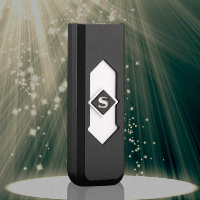 الإبداعية صغيرة USB قابل لإعادة الشحن يندبروف عديمة اللهب الكهربائية الإلكترونية شحن ولاعة السجائر الذي لا يدخن سوبر الولاعات رجل